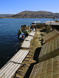 Maisons traditionnelles, Puno, Pérou Images stock