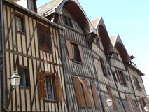 Maisons traditionnelles, Troyes ( France ) Stock Photos