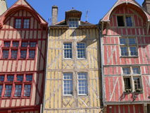 Maisons traditionnelles, Troyes ( France ) Stock Photo