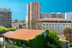Maisons typiques de Marseille Photographie stock libre de droits