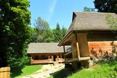 Maisons ukrainiennes de village Photographie stock libre de droits
