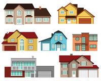 Maisons urbaines Images stock