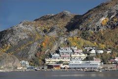 Maisons urbaines - Bodo en Norvège Photographie stock libre de droits