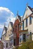 Maisons urbaines de luxe de Washington DC, Etats-Unis Photo stock