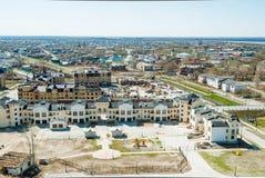 Maisons urbaines de ville de Tobolsk, Russie Photos stock