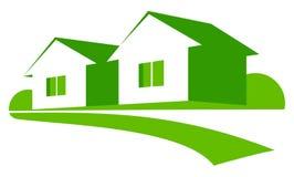 Maisons vertes illustration libre de droits