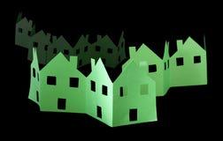 Maisons vertes d'écologie Images stock