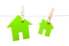 Maisons vertes d'eco Images libres de droits