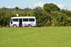 Maitai Bay conservation campsite Royalty Free Stock Image