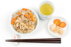 Maitake-gohan Stock Images