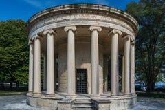 Maitland圆形建筑在Corfu,希腊 免版税库存图片