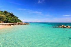 天堂海滩在酸值maiton海岛,普吉岛,泰国 库存图片