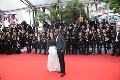 Maitre Gims, Dem Dem. Attends 'The BFG' premier during the 69th Annual Cannes Film Festival on May 14, 2016 in Cannes stock photography