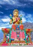Maitreya菩萨雕象在拉达克,印度 库存图片