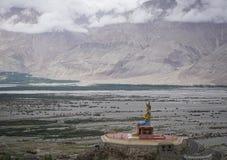 Maitreya菩萨雕象在拉达克,印度 图库摄影
