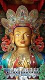 Maitreya Bouddha au monastère de Thiksey, Ladakh, Inde Images libres de droits