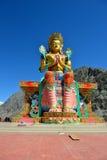 Maitreya Bouddha dans Ladakh, Inde Images libres de droits