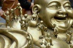 Maitreya bronze statue Royalty Free Stock Image
