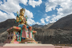 Maitreya Buda en el valle de Nubra, ladakh la India Foto de archivo