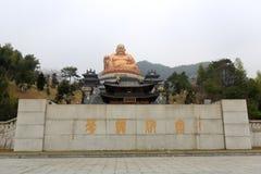 Maitreya buddha bronze statue in xuedousi temple, adobe rgb. Xuedou temple is located in xuedoushan mountain, xikou town, fenghua district, ningbo city, zhejiang Stock Photo
