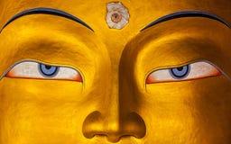 Maitreya Buddha face close up, Ladakh Royalty Free Stock Photo