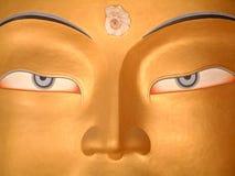 Maitreya, Buddha of the Future. Image of Buddha statue at Tiksey Gompa in Ladakh, India stock photography