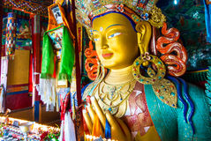 The Maitreya Buddha (Future Buddha) at Thiksey Monastery in Ladakh Royalty Free Stock Photo