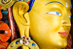 The Maitreya Buddha (Future Buddha) at Thiksey Monastery in Ladakh Royalty Free Stock Photos