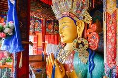 Maitreya Buddha. Future buddha or Maitreya Buddha 28th at Thiksey Monastery, Leh Ladakh, India Stock Image