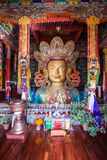 The Maitreya Buddha. (Future Buddha) at Thiksey Monastery in Ladakh Stock Photos