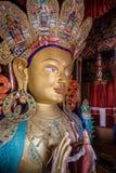 The Maitreya Buddha. (Future Buddha) at Thiksey Monastery in Ladakh Stock Photo