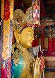 Maitreya Buddha, górna część Gigantyczna statua, Thikse Monaster Zdjęcia Stock