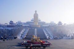 Maitreya Buddha and guanyin bodhisattva Stock Image