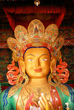 Maitreya Buddha 01. One of the main points of interest is the Maitreya (future Buddha) Temple erected to commemorate visit of the 14th Dalai Lama to this Royalty Free Stock Photos