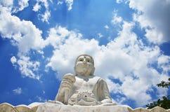 Maitreya Buddha på Wat Pusawan Phetchaburi Thailand Arkivbilder