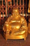 Maitreya Buddha Połysku Mosiądz Obrazy Stock