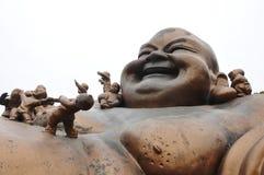 Maitreya Buddha Sculpture Royalty Free Stock Image