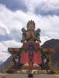 Maitreya Buddha statua, Diskit monaster Obraz Royalty Free