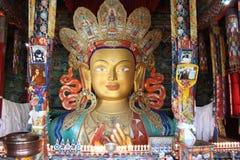 Maitreya Buddha statua przy Thiksey Gompa Fotografia Royalty Free