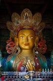Maitreya buddha statue in Hemis gompa in Ladakh, India. Stock Image