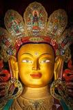 Maitreya Buddha in Thiksey Gompa, Ladakh Stock Image