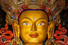 Maitreya Buddha in Thiksey Gompa Royalty Free Stock Photos