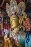 Maitreya buddha in thiksey monastery : side view Stock Photo