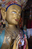 Maitreya buddha in thiksey monastery Royalty Free Stock Photos