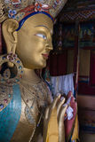 Maitreya buddha in thiksey monastery. Statue of Maitreya Buddha in Maitreya future Buddha Temple  in Thiksay monastery was erected to commemorate visit of the Stock Image