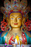 Maitreya Buddha (zukünftiger Buddha) bei Thiksey Gompa in Leh, Indien Lizenzfreies Stockbild