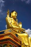 Maitreya Buddhastaty i den Diskit kloster Arkivfoto