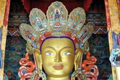 Maitreya - framtida Buddha staty från Ladakh Royaltyfri Foto