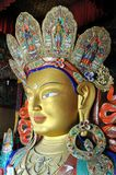 Maitreya - Future Buddha statue from Ladakh Royalty Free Stock Photography