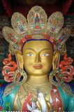 Maitreya - Future Buddha statue from Ladakh Stock Photo